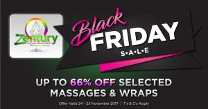 Black Friday 2017 Discounted Massages and Body Wraps