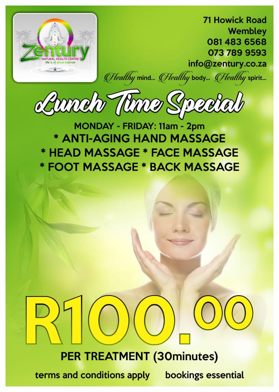 Lunch Time Massage Therapy Specials