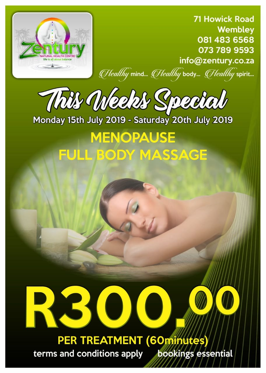 Menopause Full Body Massage Treatment