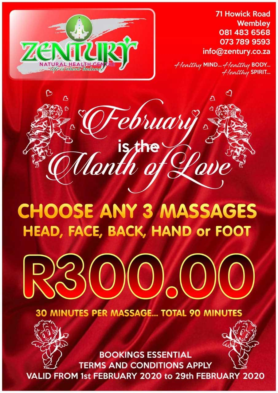 February Love – 3 Massages for R300